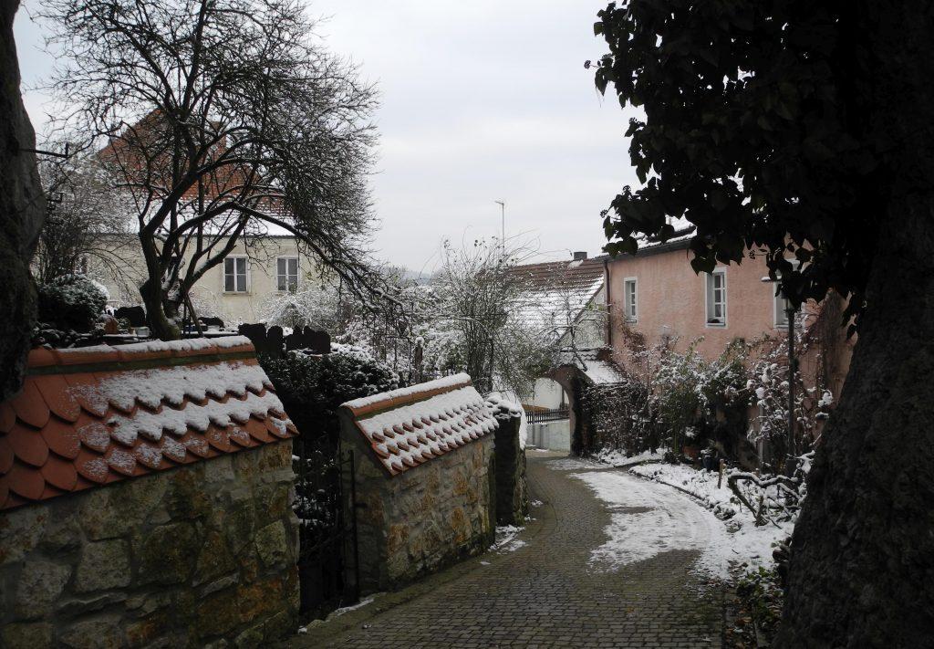 Schnee in der Schlossgasse